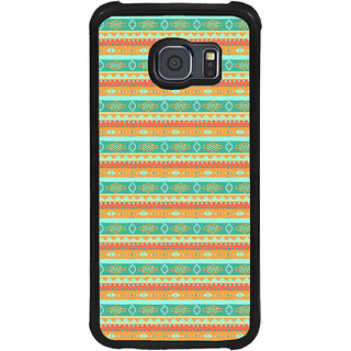 ifasho Animated Pattern colrful traditional design Back Case Cover for Samsung Galaxy S6 Edge Plus