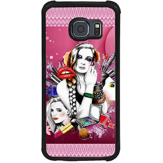 ifasho fashion Girls Back Case Cover for Samsung Galaxy S6 Edge