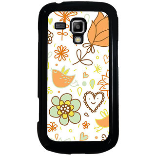 ifasho Animated Pattern colrful design cartoon flower with leaves Back Case Cover for Samsung Galaxy S Duos S7562