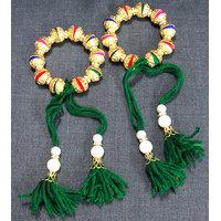 Multicolour Golden Cap Bracelet