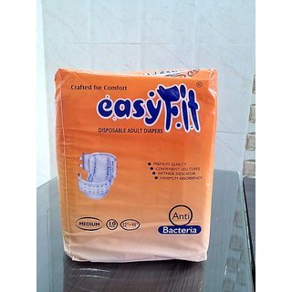 ADULT DIAPERS - (Medium) - EASYFIT - 10s Packing