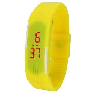 LED Sports Band Watch - Yellow