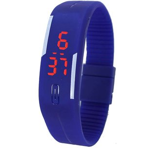 LED Sports Band Watch - Blue