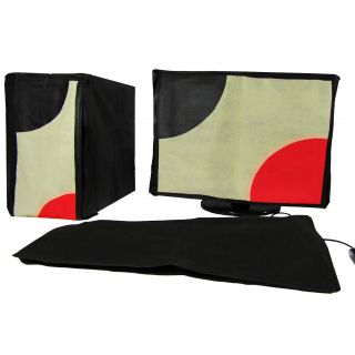 Indian Technology Three Pcs Set Computer Desktop Dust Cover 19 LED LCD Monitor