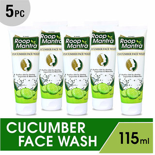 Roop Mantra Herbal Cucumber Face Wash (Pack of 5)