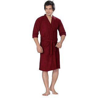 Imported Cotton Bathrobe (Maroon)
