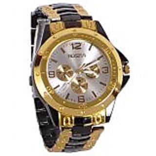 Rosra Golden Black Analog Watch