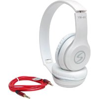 Signature VM-44 HD Sound Stereo Dynamic Headphone (White, On the Ear) with 1 Month manufacturing warranty