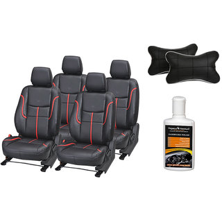 Pegasus Premium Seat Cover for Honda New City with Neck rest and Dashboard polish