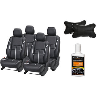 Pegasus Premium Seat Cover for Chevrolet Aveo with Neck rest and Dashboard polish
