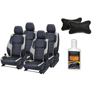Pegasus Premium Seat Cover for Maruti Celerio with Neck rest and Dashboard polish