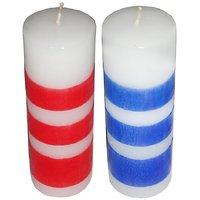 Atorakushon Smokeless Scented Designer Round Pillar Candle For Decoration Diwali Party Gift Pack Of 4