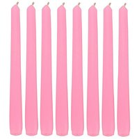 Atorakushon Smokeless Scented Pack Of 8 Pink Tapered Stick Candles For Diwali