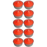 Atorakushon Smokeless Scented Orange Tealight T-Lite Candles For Diwali Birthday Party Pack Of 30
