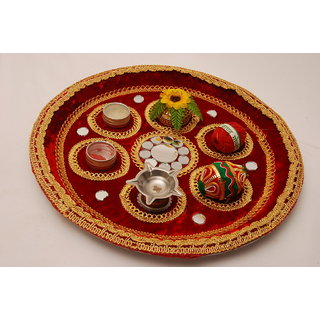 Indo Decorative Puja Thali Assorted Design