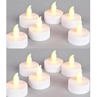 LED FLICKERING TEALIGHT CANDLES - PACK OF 12 Battery Operated T-light