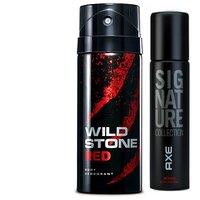 Wild Stone Ultra Sensual Deodorant 150ml  Axe Signature Intens Body Perfume 122ml