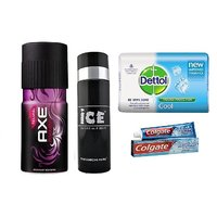 Axe deo + Ice deo + Dettol Soap + Colgate