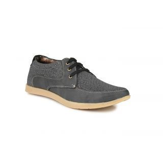 Factory London Men's Dark Grey Casual Shoe