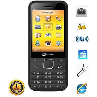 Micromax X805 2.8 inches Dual Sim GSM Multimedica Camera Mobile Phone
