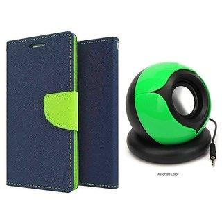 LENOVO P1  Mercury Wallet Flip Cover Case (BLUE) With Pc/mobile SPEAKER