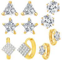 Jewels Galaxy Combo Dhamaka Fancy American Diamond Earrings - Combo Of 5