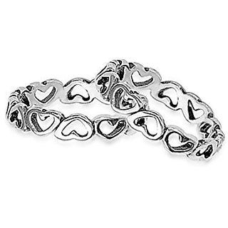 YouBella 925 Sterling Silver Toe Ring For Women-YBTRHEARTFOF