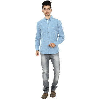 Wrangler Blue Cotton Casual Shirt