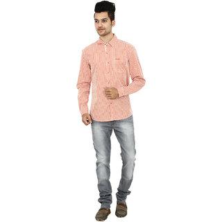Wrangler Orange Cotton Casual Shirt