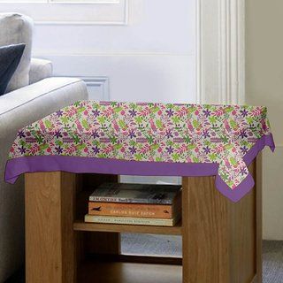Lushomes Purple Rain Printed Side Table Cloth