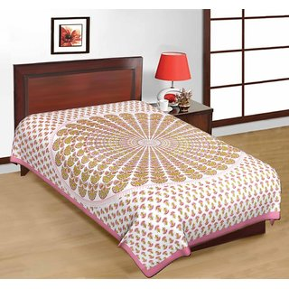 Art Bazar Single Cotton Printed Bed Sheet
