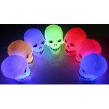Set of 2 LED colour changing skull lamp