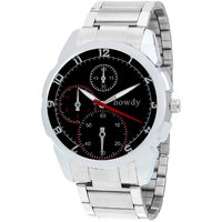 Howdy Analog Black Dial Stainless Steel Strap Watch For Men's Ss504