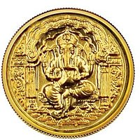 Diwali Special Offer Buy 140mg Ganesh Darbar Gold Coin  Get Gold Foil Envelope Free By Parshwa Padmavati Gold