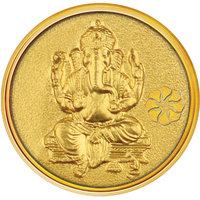 Diwali Special Offer Buy 250mg Ganesh Gold Coin  Get Attractive Silver Stand Free
