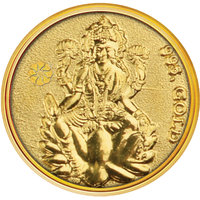Diwali Special Offer Buy 250mg Laxmi Gold Coin Get Attractive Silver Stand Free