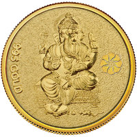 Diwali Special Offer Buy 450mg Ganesh Gold Coin  Get Silver Paan Free By Parshwa Padmavati Gold