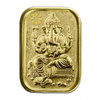 Diwali Special Offer Buy 450mg Gini Ganesh Gold Coin  Get Silver Paan Free By Parshwa Padmavati Gold