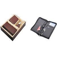 SUSHA Gents Wallet, Ladies Wallet, Key Ring,Passport Holder Combo (SS-804SS-845)