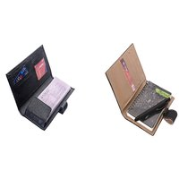 SUSHA Leathered Loop Cheque Book Cover,Writing Pad And Pen Combo (SS-830SS-836)
