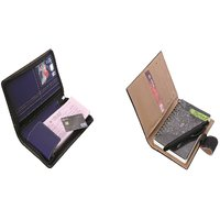 SUSHA Leathered Cheque Book Cover,Writing Pad And Pen Combo (SS-832SS-836)