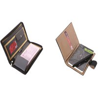 SUSHA Leathered Cheque Book Cover,Writing Pad And Pen Combo (SS-833SS-836)