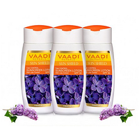 Vaadi Herbals SUNSCREEN LOTION WITH LILAC EXTRACT - SPF 30 (110mlx3)
