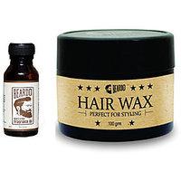 Beardo Beard  Hair Fragrance Oil, The Classic 10ml and BEARDO HAIR WAX - Perfect For Styling -100g combo.