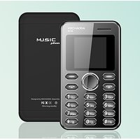 Kechaoda K116 Credit Card Size Phone MP3/Mp4 Video Player/Bluetooth/Black Color