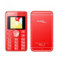 Kechaoda K116 Credit Card Size Phone MP3/Mp4 Video Player/Bluetooth/Red Color