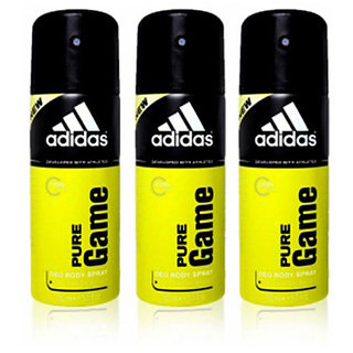 Adidas Deodorants 3 Pure Game Of 150 ML Each (Set of 3) For Men