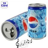 PEPSI CAN STYLE MP3 MULTIMEDIA SPEAKER MICRO SD SLOT SUPPORT 4GB USB SLOT FM