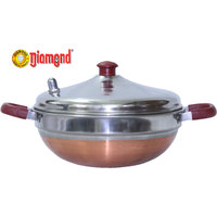 Diamond Pressure Cooker Stainless Steel Multi Kadai Cum Idly Vessel