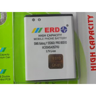 100  ORIGINAL ERD BATTERY FOR SAMSUNG GALAXY Y S5360 S5380 PRO B5510 EB454357VU MOBILE WITH BILL SEAL PACK  6 MONTHS MANUFACTURER WARRANTY available at ShopClues for Rs.415